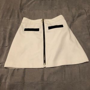 Express white zip skirt